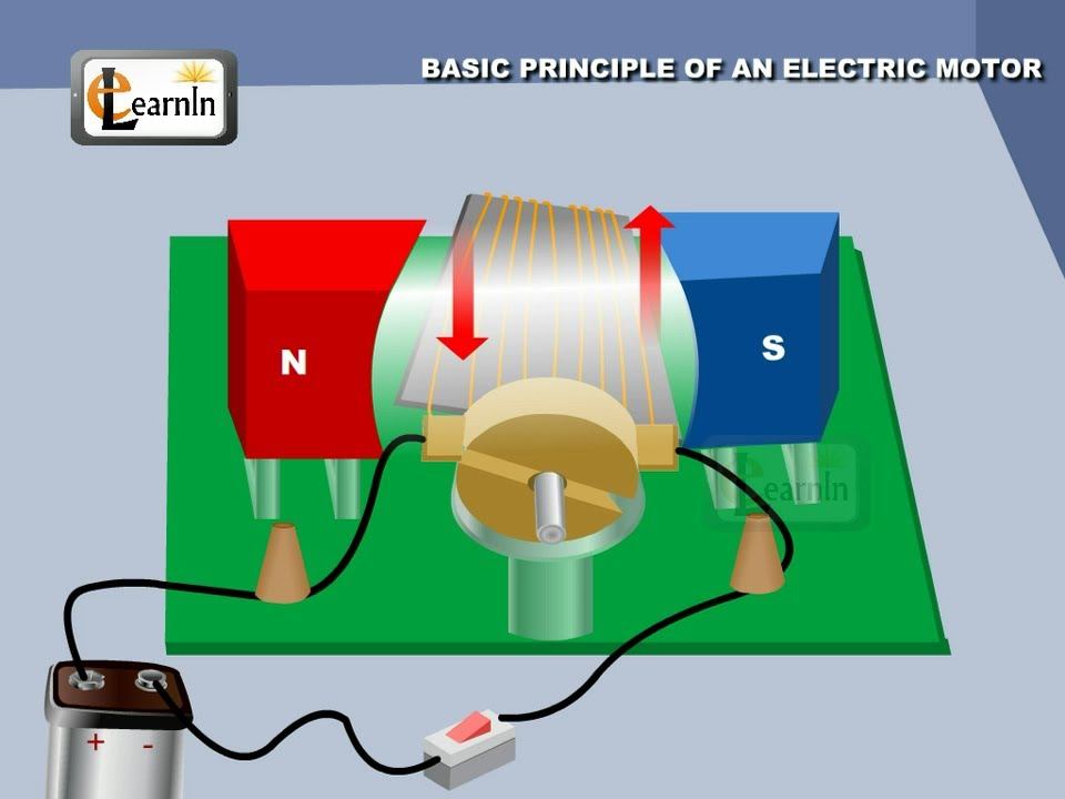 Physics - Principle Of An Electric Motor - Physics