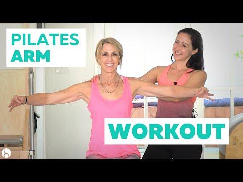 Pilates Arm Workout: Long, Lean Tricep Toner   Doovi
