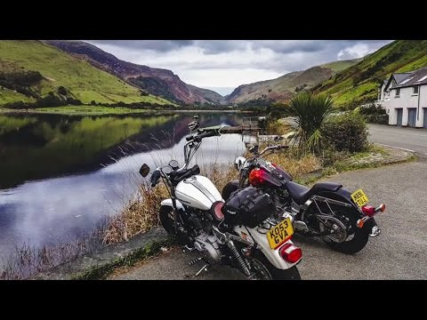 Motorcycle tour to South Snowdonia, Wales, UK -  Harley Davidson trip