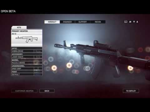 BF4 Weapon Overview - AK12