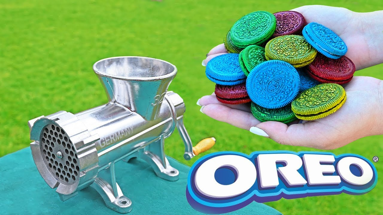 EXPERIMENT OREO VS MEAT GRINDER