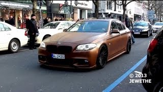 New 2011 BMW 5 Series w/ Hamann Bodykit spotted in Düsseldorf! Great looks and sound! (1080p HD)