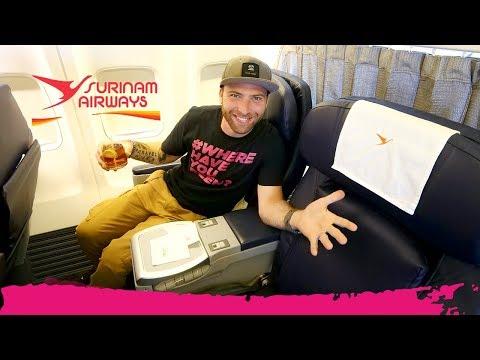 suriname-airways-business-class-review-|-paramaribo-to-miami-via-aruba