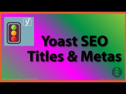 Yoast SEO Titles and Metas - 동영상