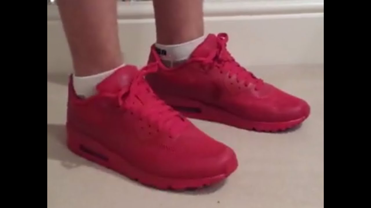 release date d5152 c5819 Nike iD airmax 90 gym red in depth review+on foot