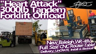 BEST UNBOXING EVER! New Baleigh WR-48V CNC Router Table - Offload, Install, Electrical
