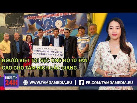 TamdaMedia.eu - ĐIỂM TIN 24H ngày 02.06.2021 - Người Việt tại Séc ủng hộ cho tâm dịch Bắc Giang