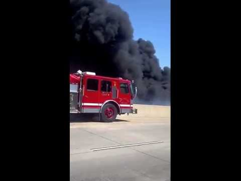 Truck fire on I-40 in North Little Rock