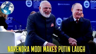 NARENDRA MODI makes VLADIMIR PUTIN laughs at US Journalist Kelly