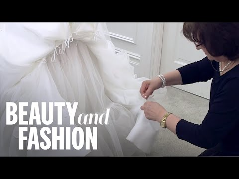 How to Bustle a Wedding Dress - YouTube