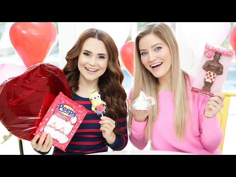 Thumbnail: TRYING FUN VALENTINES CANDY w/ iJustine!