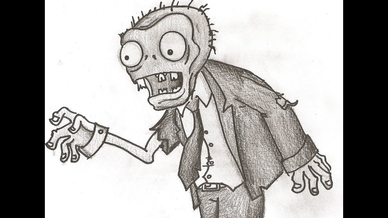 Dessin plantes vs zombies youtube - Dessin de zombie ...