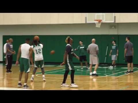 Marcus Smart schools Jaylen Brown at Boston Celtics practice