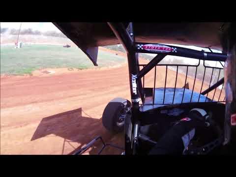 Bradley Galedrige in the #19 Racesaver Sprint car at Bloomington Speedway