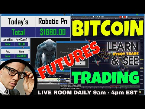 💥 BITCOIN FUTURES 💥 DAY 1 - BEST INDICATORS | FUTURES | FOREX | EMINI | LEARN TO DAY TRADE