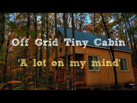 Off Grid Tiny Cabin: 'A Lot on My Mind'