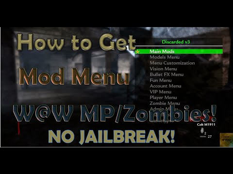 (No Jailbreak) How to get Mod Menu on World at War PS3 Online Tutorial!