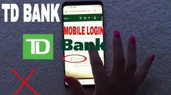 ✅  How To Register Login Find Password TD Bank Mobile Website 🔴