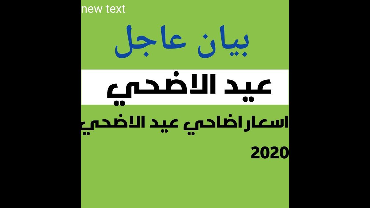 اسعار اضاحي عيد الاضحي 2020