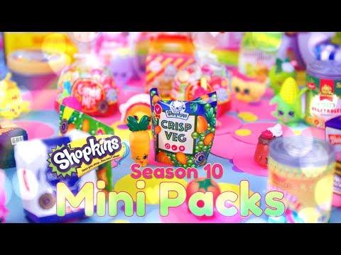 Unbox Daily: SHOPKINS Season 10 Mini Packs Haul | Rare | Super Rare | ALL NEW