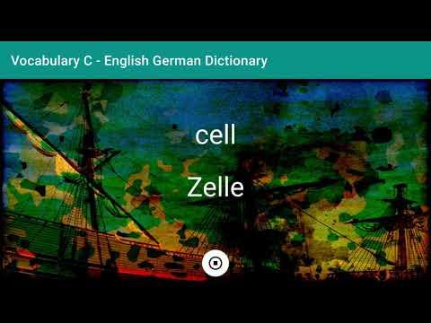 English - German Dictionary - Vocabulary C