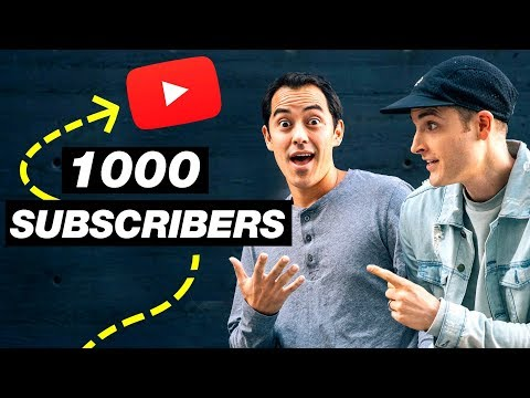 How to get Your First 1000 Subscribers on YouTube - 10 Tips