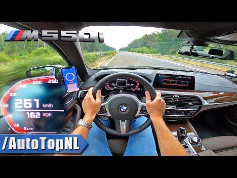 BMW M550i 4.4 V8 BiTurbo 530HP TOP SPEED on AUTOBAHN [NO SPEED LIMIT] by AutoTopNL