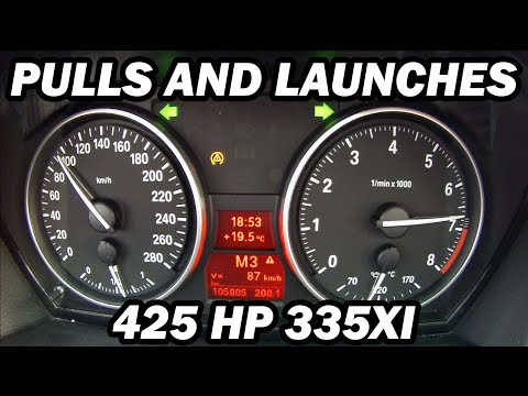 BMW N54 335xi 425HP Pulls and Launches