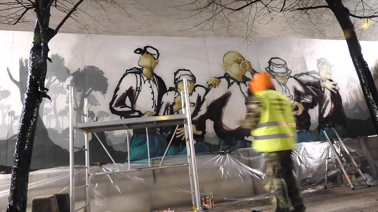 Amos Rex V  Beamer Nora Helsinki Jr Close Graffiti Wall In The Center Of Helsinki
