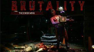 """MORTAL KOMBAT 11 - JOKER """"Playful Puppet"""" Brutality (MK11) @ 1080p (60ᶠᵖˢ) ✔"""