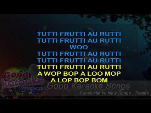 Tutti Frutti - Little Richard ( Karaoke Lyrics )
