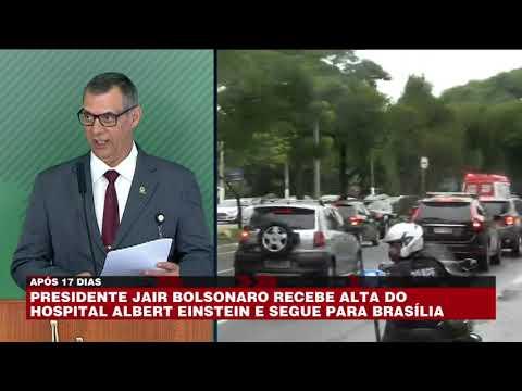 Bolsonaro recebe alta do hospital e segue para Bras�lia