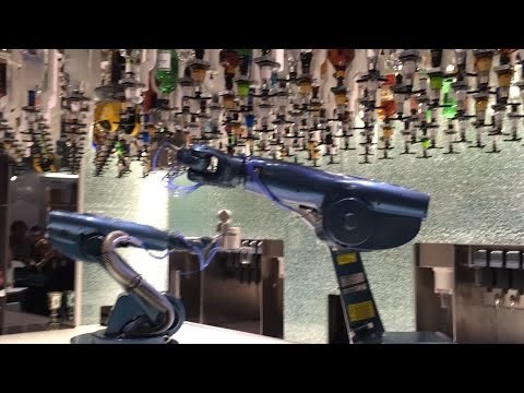 Robots Mixing Drinks