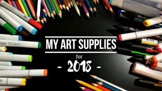 My Art Supplies for 2018 !! *Copics + Wacom and more!*