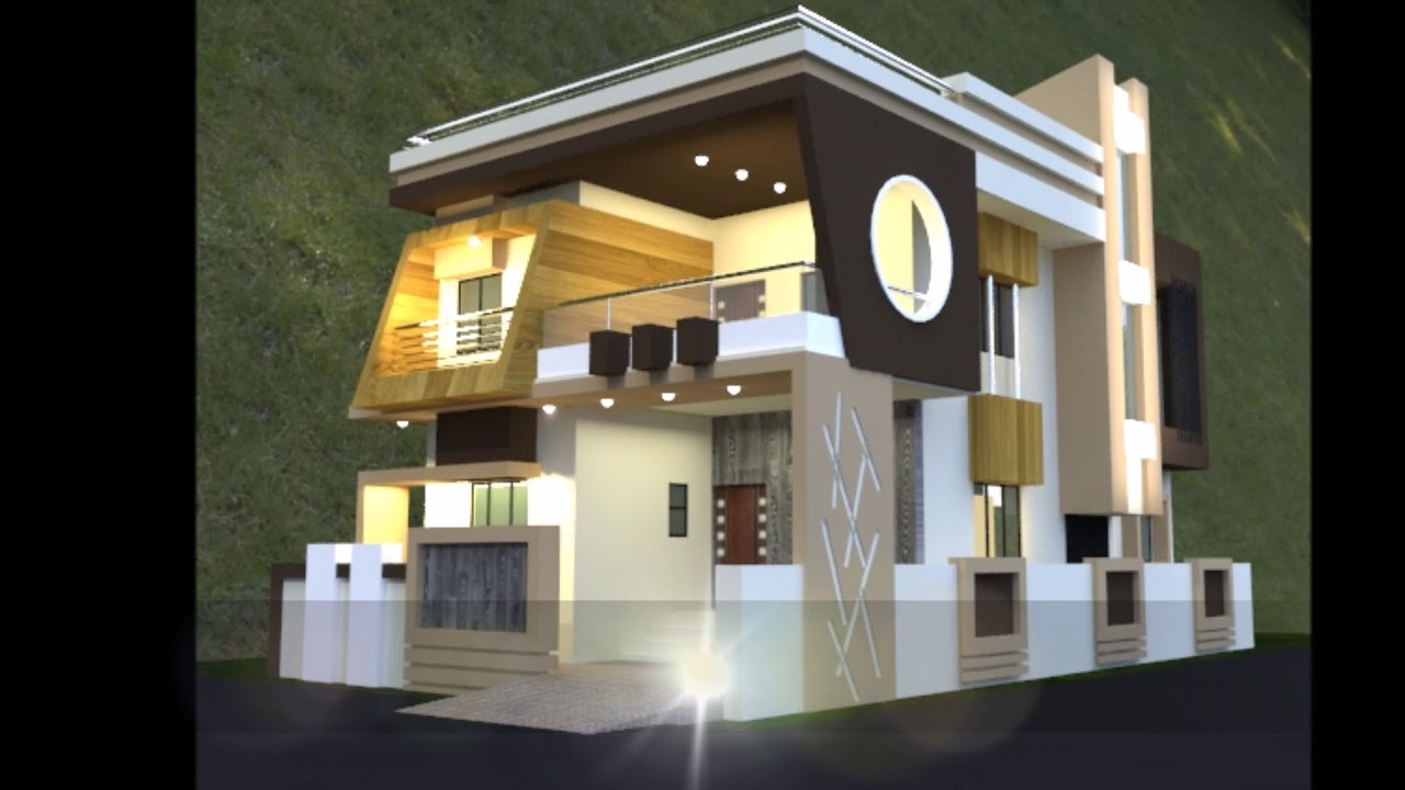 2 Storey House Floor Plan With Perspective Youtube