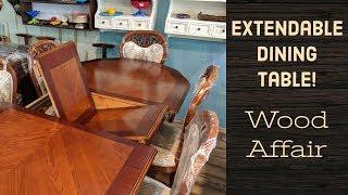Wood Affair   Expandable Wooden Dining Set   Sheesham Wood   Indian Rosewood  Furniture