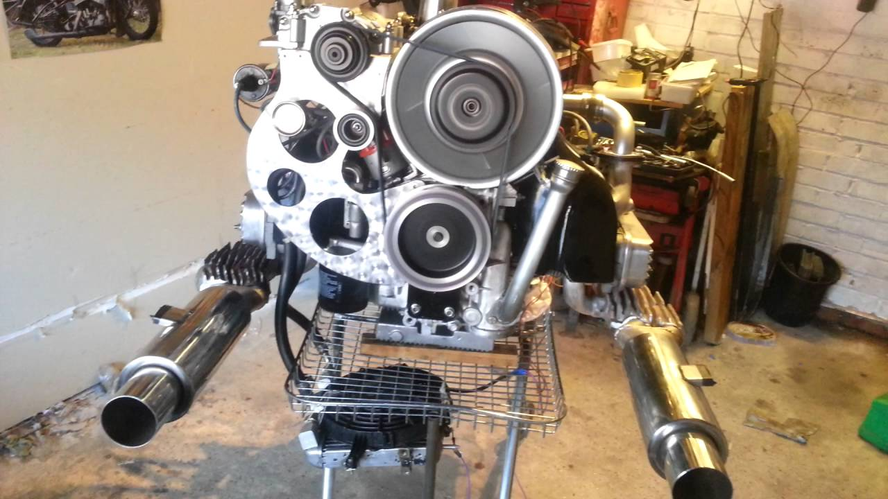 Supercharged aircooled vw engine - YouTube