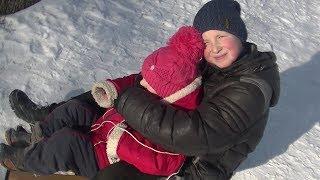 Мини ВЛОГ Мороз в Украине, катаемся на горке, покупки
