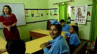 Lynne Sings Translated English Songs in India with Special Needs Class #4