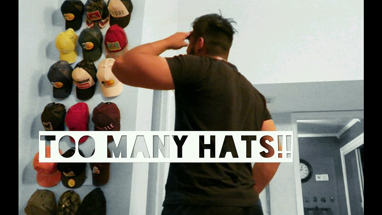 Cheap and easy diy hat rack youtube for Baseball hat storage solutions