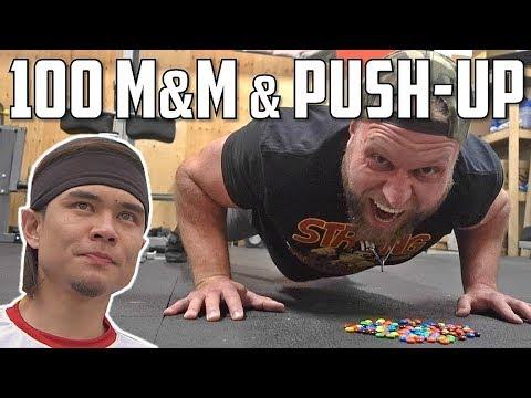 Matt Stonie's 100 M&M's & Push-up Challenge ACCEPTED!