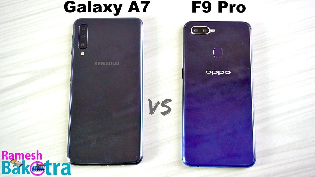 Samsung Galaxy A7 2018 Vs Oppo F9 Pro Speedtest And Camera