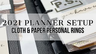 2021 Planner Setup | Personal Rings | Cloth & Paper Personal Agenda #clothandpaper #plannersetup