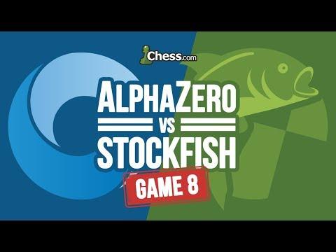 AlphaZero vs Stockfish Chess Match: Game 8