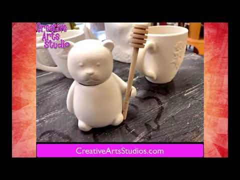 Pottery Painting Art Video by Creative Arts Studio Royal Oak, MI #PotteryPainting