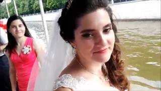 Лучшая свадьба!! покатушки на лимузинах в Москве реке, дети зажигают на танцполе, девочки секс =РАША