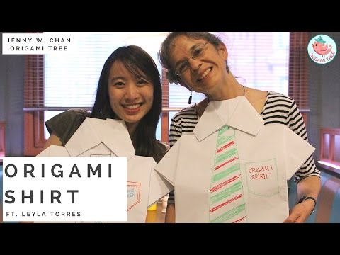 Origami Shirt Tutorial - Oversize Paper Folding Large Shirt ft. Leyla Torres (Origami Spirit)