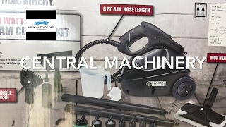 Central Machinery 1500 w Steamer Kit. (From Harbor Freight) Review and Demonstration