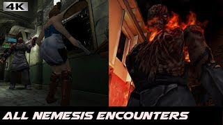 Resident Evil 3 - All Nemesis Encounters\Battles [4k]