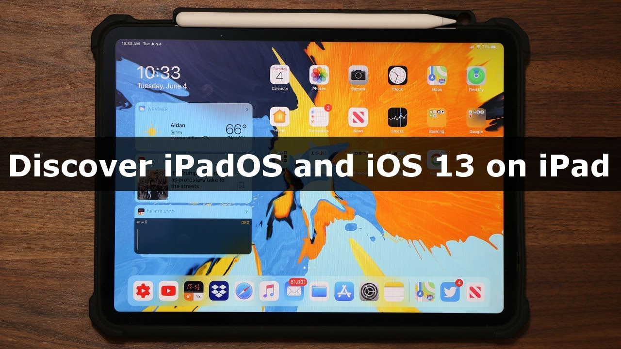 iPadOS (iOS 13) running on an iPad Pro - The New Features